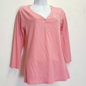 True Religion Deep V Henley shirt Sm